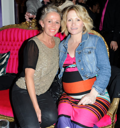 Lucy Speed with EastEnders co-star Lucy Benjamin