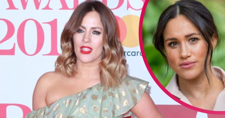 Caroline Flack and Meghan Markle