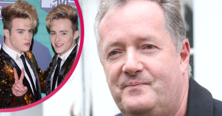 Piers Morgan bit back at Jedward during a Twitter spat