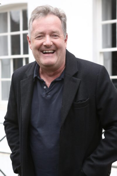piers Morgan outside his home