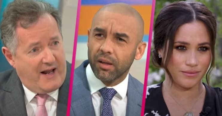 Piers Morgan, Alex Beresford and Meghan Markle