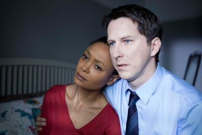 Thandie Newton and Lee Ingleby in Line of Duty series three (Credit: BBC One)