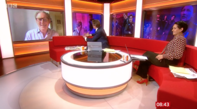 naga charlie and adrian Dunbar on bbc breakfast