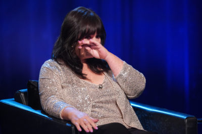 Coleen Nolan breaks down while chatting to Piers Morgan (Credit: ITV1)
