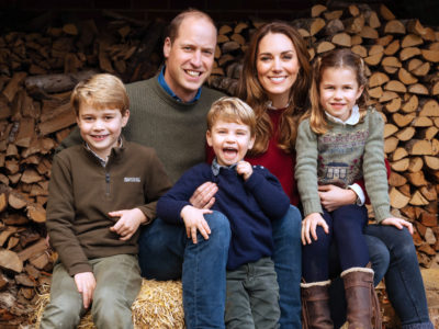 Prince William and Kate Middleton with their children