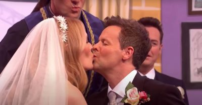 Cat Deeley kisses Dec