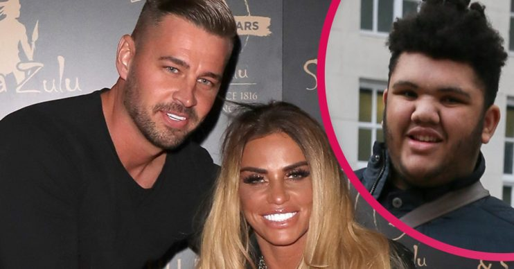 katie price carl woods broken hand
