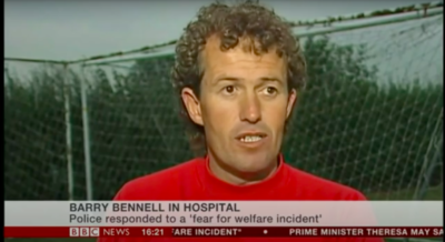 Barry Bennell paedophile football coach in hospital after being found unconscious