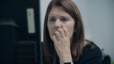 Detective Sergeant Clare Gilbert has just 24 hours to gather enough evidence to make an arrest (Credit: Channel 4)