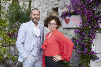 Fred looking ridiculously dashing outside the First Dates Hotel in Italy (Credit: Channel 4)