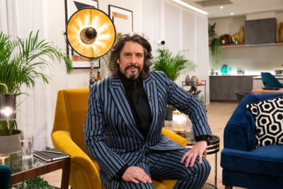 Laurence Llewelyn-Bowen looking typically low-key in This is My House (Credit: BBC One)