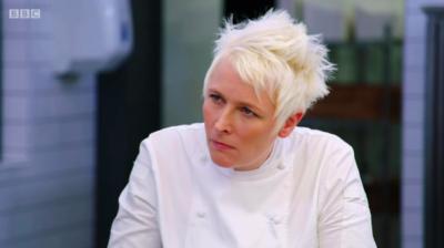 Lisa Goodwin-Allen judges on Great British Menu (Credit: BBC Two)