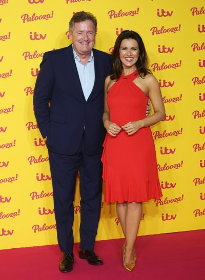 piers Morgan and Susanna Reid on the red carpet