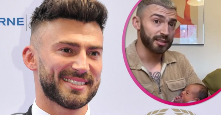 Jake Quickenden and son