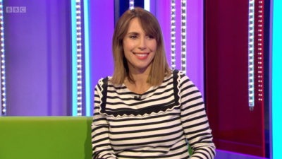 Alex Jones announced her pregnancy on The One Show