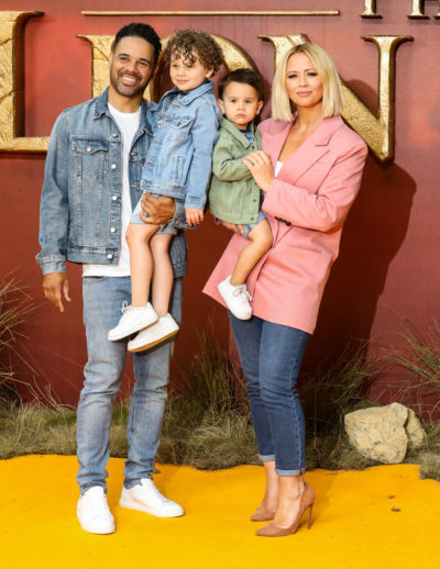kimberley walsh with husband and sons