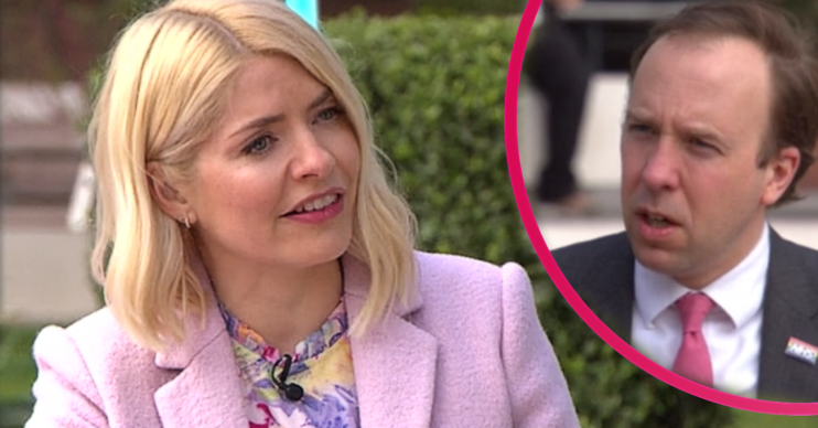 Holly Willoughby interviewed Matt Hanckock on This Morning