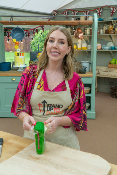 Katherine Ryan takes part in The Great Celebrity Bake Off for Stand Up to Cancer.