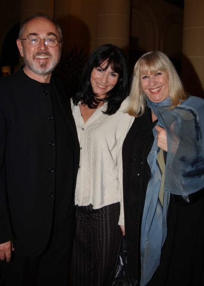 Peter Egan with his wife and daughter