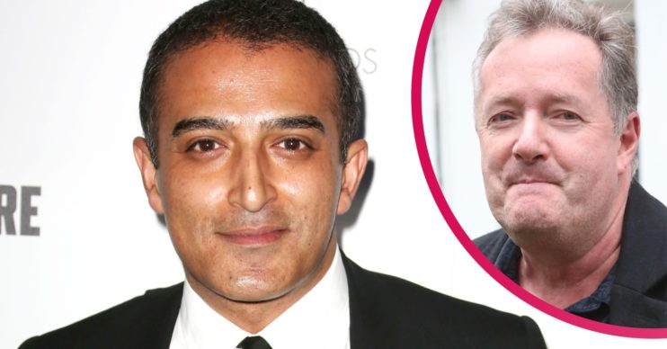 Adil Ray and Piers Morgan