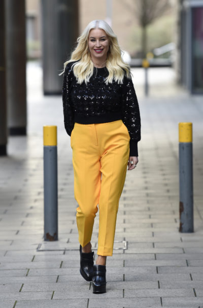 Denise Van Outen said she was hurt by Ashley Banjo;s comments on Dancing On Ice