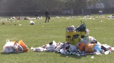 litter in parks