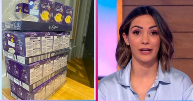 Frankie Bridge admitted husband Wayne ordered six CRATES of eggs, not six Easter eggs