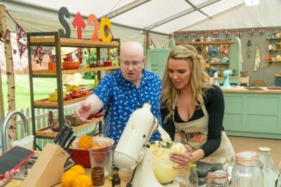 Nadine Coyle and Matt Lucas on Celebrity Bake Off (Credit: Channel 4)