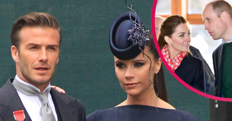 David Beckham and Victoria at William and Kate's wedding