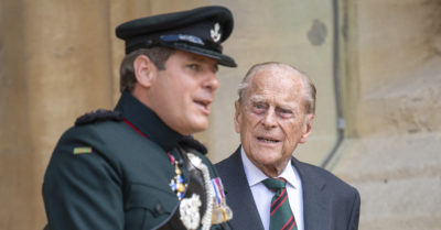 Prince Philip Attends The Transfer Of The Colonel-In-Chief Of The Rifles At Windsor Castle