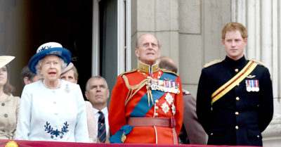 Prince Harry And Prince William Chatting And Talking On The Balcony Of The Trooping Of The Colour, 2014