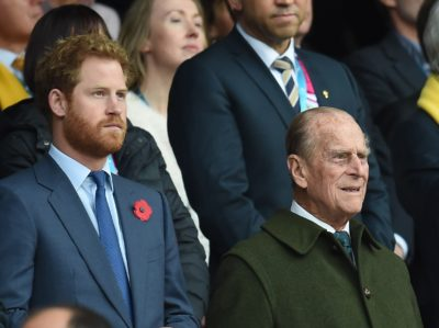 Prince Harry and Philip
