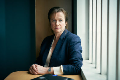 Emily Watson as Dr Emma Robertson in Too Close on ITV