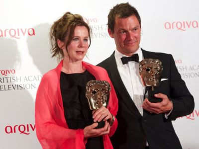 Emily Watson pictured with Dominic West