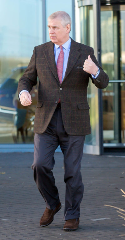Prince Andrew seen out and about