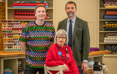 Joe Lycett and judges Great British Sewing Bee