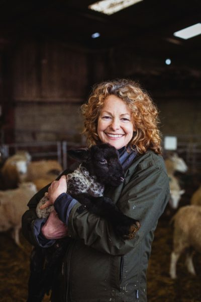 We're not sure who is cuter... Kate or the lamb! (Credit: Channel 5)
