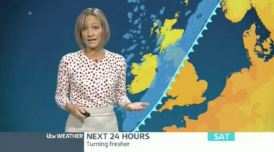 ruth Dodsworth presenting the weather