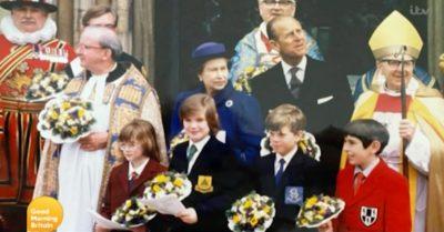 Prince Philip with Charlotte Hawkins
