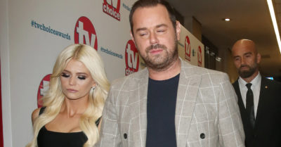 Danielle with Danny Dyer at the TV Choice Awards