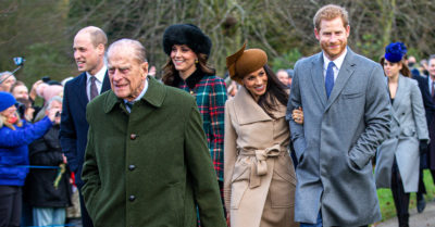 prince harry and prince william with prince philip