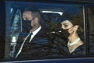 Kate arrives at funeral