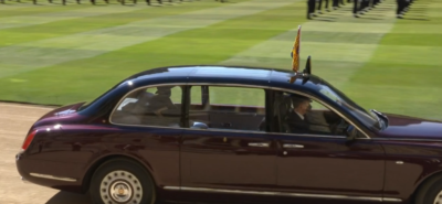 The Queen arrives at funeral of the queen