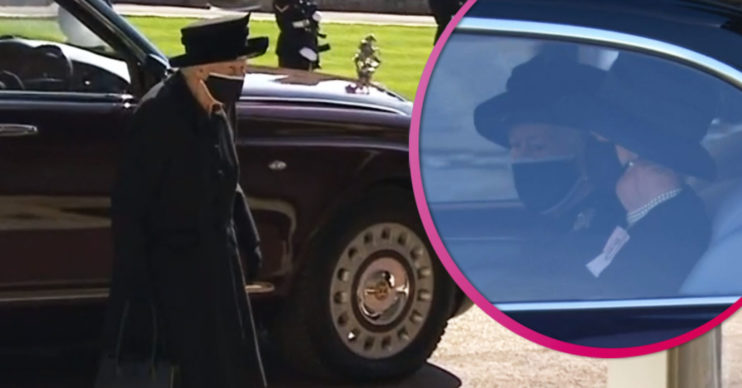 Queen arrives for funeral of Prince Philip