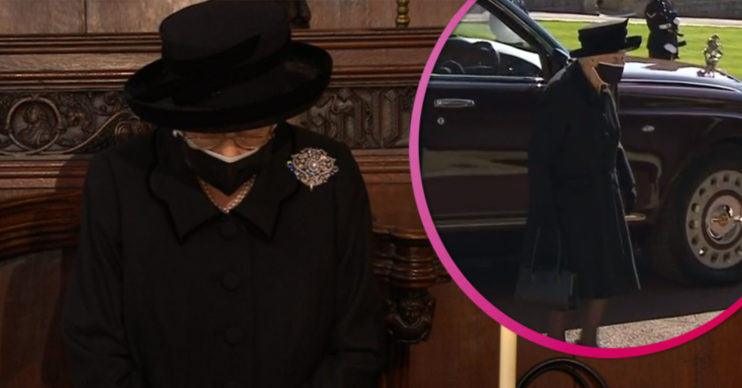 Queen arrives at funeral of Prince Philip