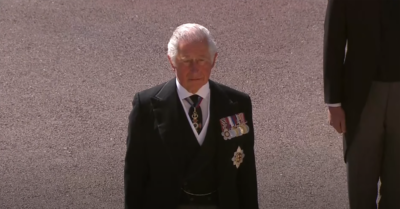 Prince Charles at Philip's funeral