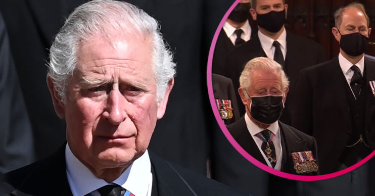 Prince Charles at funeral of Prince Philip