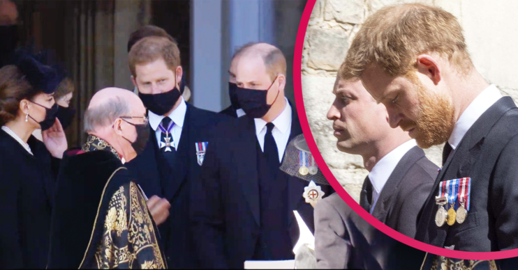 prince William and harry funeral