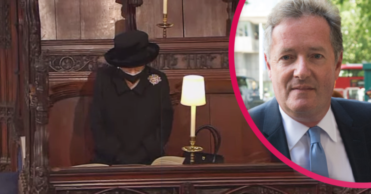 Piers Morgan was heartbroken at the image of The Queen sitting along during Prince Philip's funeral