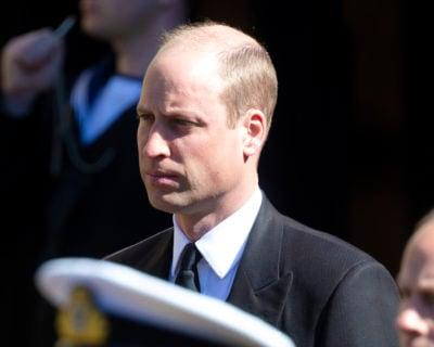 prince William at Philip's funeral